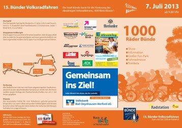 02 Flyer 1000 Raeder Buende_Layout 1 - Stadtwerke Herford GmbH