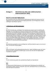 Vereinbarung über den elektronischen Datenaustausch (EDI)