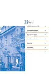 Geschäftsbericht 2002/2003 - Stadtwerke Huntetal