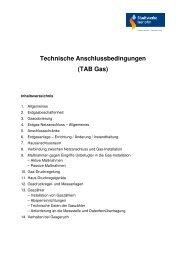 Technische Anschlussbedingungen - Stadtwerke Iserlohn