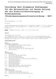 Niederspannungsanschlussverordnung - VEWSaar