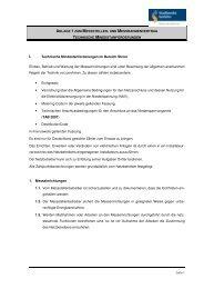Technische Mindestanforderungen - Stadtwerke Iserlohn