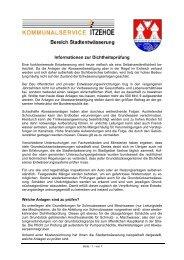 Informationen zur Dichtheitsprüfung - Stadtwerke Itzehoe