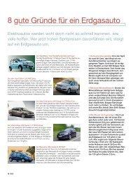 8 gute Gründe für ein Erdgasauto - Stadtwerke Itzehoe
