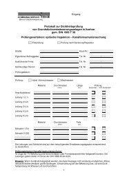 Prüfungsverfahren: optische Inspektion, Kanalfernsehuntersuchung