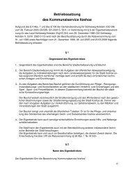 9.1. Betriebssatzung des Kommunalservice Itzehoe - Stadt Itzehoe