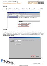 E-Mail – Kontoeinrichtung: - Stadtwerke Itzehoe