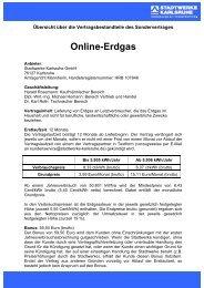 Übersicht über die Vertragsbestandteile - Stadtwerke Karlsruhe