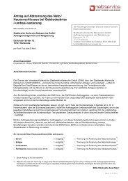 Antrag auf Trennung - Stadtwerke Karlsruhe