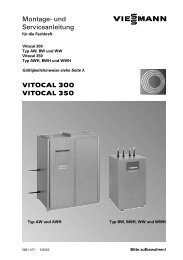 VITOCAL 300 VITOCAL 350 Montage− und Serviceanleitung