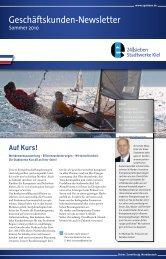 Geschäftskunden-Newsletter - Stadtwerke Kiel