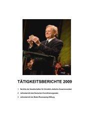 TÄTIGKEITSBERICHTE 2009 - Der Deutsche Koordinierungsrat der ...