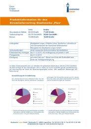 Pro duktinformation Stadtwerke 'Plus' - Stadtwerke Lingen GmbH