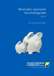 Besonders sparsame Haushaltsgeräte - Stadtwerke Lübbecke GmbH