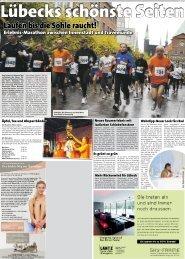 Laufen bis die Sohle raucht! - Stadtwerke Lübeck Marathon