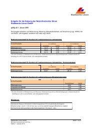 Netzentgelte Strom 1. Januar 2010 bis 31 ... - Stadtwerke Lünen