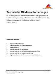 Technische Mindestanforderungen - Stadtwerke Lünen