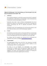 Allgemeine Bedingungen Netzverluste 2011 - Stadtwerke Lünen