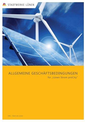 ALLGEMEINE GESCHÄFTSBEDINGUNGEN - Stadtwerke Lünen
