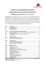 Netzzugangsbedingungen (AGB Anschluss) - Stadtwerke Lünen