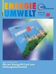 Mit der Energy-M Card zum Schlossgrabenfestival - Stadtwerke ...