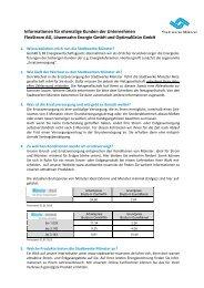Informationen für ehemalige Kunden der Unternehmen FlexStrom ...