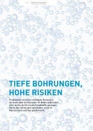 TIEFE BOHRUNGEN, HOHE RISIKEN - Stadtwerke Münster