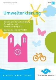 Die Umwelterklärung 2012 als PDF herunterladen. - Stadtwerke ...