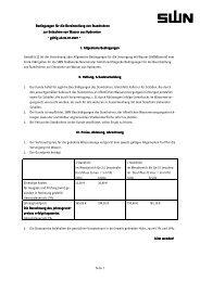 Bedingungen für die Bereitstellung von Standrohren zur Entnahme