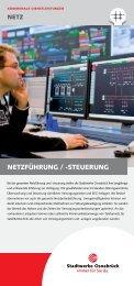 Einleger Netz Netzführung - Stadtwerke Osnabrück
