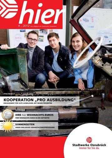 Ausgabe 4 2012 - Stadtwerke Osnabrück