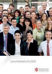 Geschäftsbericht 2012 - Stadtwerke Osnabrück