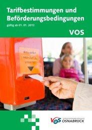 Tarif und Beförderungsbestimmungen 2012.indd - Stadtwerke ...