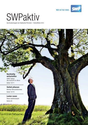 SWP Aktiv Ausgabe Herbst/Winter 2013 - Stadtwerke Pforzheim