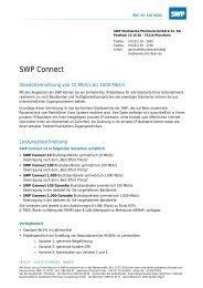 Informationsmaterial SWP-Connect - Stadtwerke Pforzheim