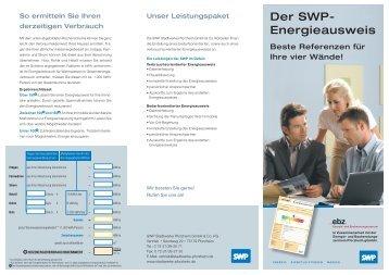 Der SWP- Energieausweis - Stadtwerke Pforzheim