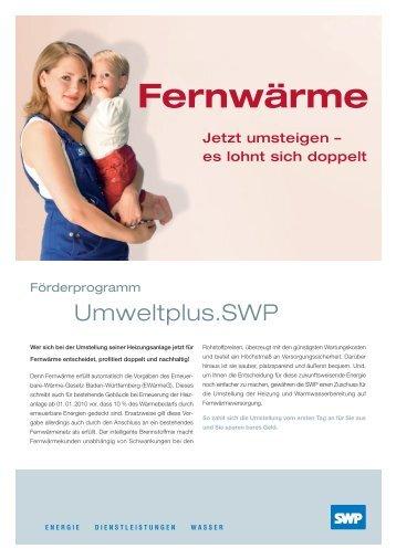 Fernwärme - Stadtwerke Pforzheim