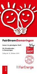 FairStromGomaringen - SWR Stadtwerke Reutlingen GmbH