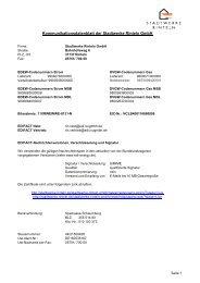 Kommunikationsdatenblatt - Stadtwerke Rinteln