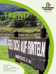 Das Kundenmagazin der Stadtwerke Rinteln