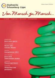 Kundenzeitschrift - Stadtwerke Schaumburg-Lippe
