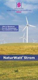 Flyer NaturWatt® Strom - Stadtwerke Schneverdingen
