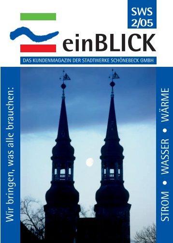 SWS 2/05 einBLICK - Stadtwerke Schönebeck GmbH
