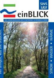 SWS 1/07 einBLICK - Stadtwerke Schönebeck GmbH