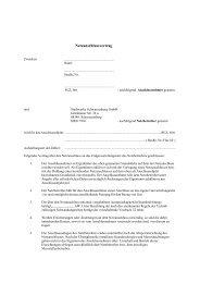 Netzanschlussvertrag - Stadtwerke Schwarzenberg GmbH