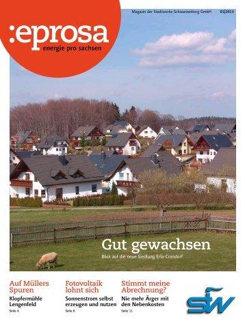 Gut gewachsen - Stadtwerke Schwarzenberg GmbH