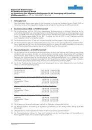 Ergänzende Bestimmungen der SWS zur AVBFernwärmeV