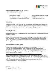 Bericht VNB 2011 - Stadtwerke Sindelfingen
