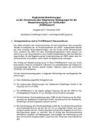 Ergänzende Bestimmungen zu der Verordnung über Allgemeine ...