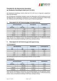 Netzentgelte 2013 - Stadtwerke Sindelfingen